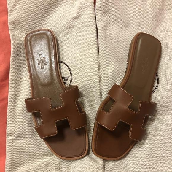 cb39566eb Hermes Shoes - Hermes Oran sandal size 37 1 2 brown color